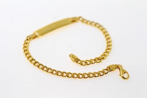 22k Jewelry Solid Gold ELEGANT Charm Ladies Bracelet Curb Design 7.5 inch b828