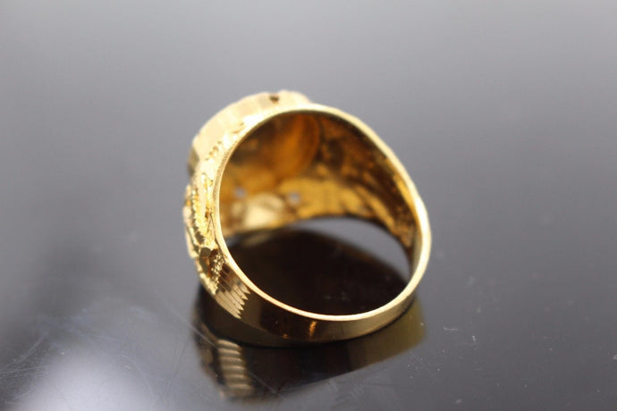 22k 22ct Solid Gold ELEGANT Charm Mens Ring SIZE 10