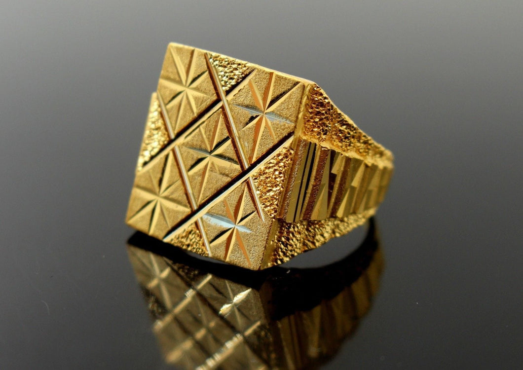 22k 22ct Solid Gold Men Ring Simple Square Design SIZE 10.5