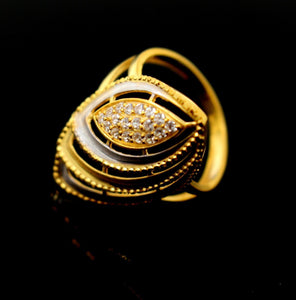 "22k 22ct Solid Gold Ladies Ring Unique Oval Design SIZE 6.0 ""RESIZABLE"" R1325"