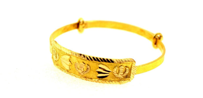 22k 22ct Solid Gold SIKH RELIGIOUS KHANDA BABY KID BANGLE BRACELET cb1104