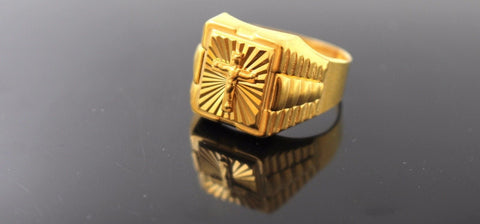 "22k 22ct Solid Gold ELEGANT Charm Mens Ring SIZE 11 ""RESIZABLE"" r1041"
