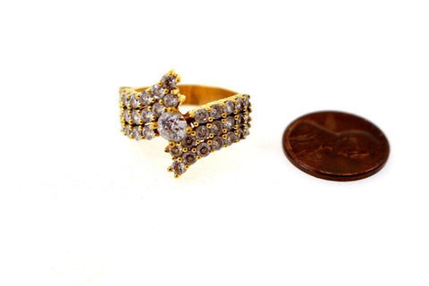 "22k 22ct Solid Gold Elegant Ladies Ring Stone Design Size 8 ""RESIZABLE"" R1220"
