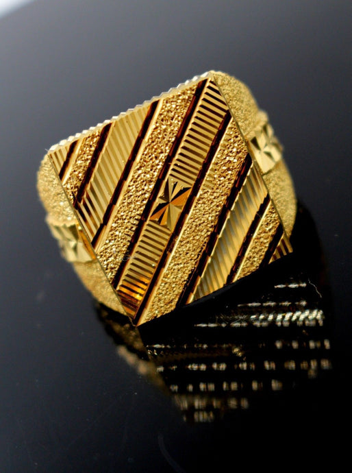 22k 22ct Solid Gold EXQUISITE SQUARE SHAPE MEN Ring