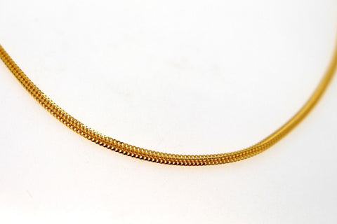 22k 22CT Yellow Solid Gold Elegant Foxtail Design Unisex Thick CHAIN 18in C943