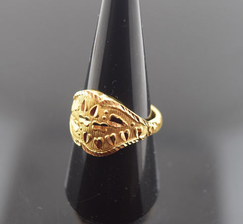 "22k 22ct Solid Gold ELEGANT STONE Ring with FREE BOX ""RESIZABLE"" R408 size mf"