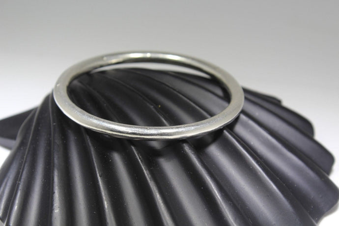1PC HANDMADE women b102 Solid Sterling Silver 925 size 2.5 inch kara Bangle
