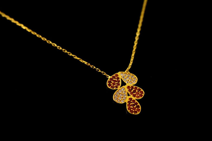 22k 22ct Gold Yellow BEAUTIFUL THIN LIGHT CHAIN WTH PENDANT LENGHT 18 c768 - Royal Dubai Jewellers