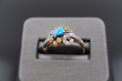 "22k 22ct Solid Gold ELEGANT Antique Ladies Stone Ring SIZE 8.0 ""RESIZABLE"" r1111"