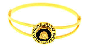 21k 21ct Solid Gold ELEGANT Ladies Designer BANGLE Modern Design b850