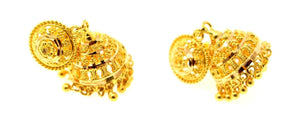 22k 22ct Jewelry Solid Gold ELEGANT LONG JHUMKE DANGLING Earring e5802