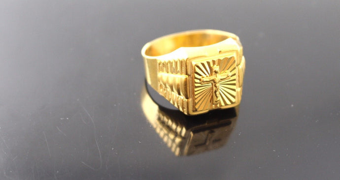 22k 22ct Solid Gold ELEGANT Charm Mens Ring SIZE 11