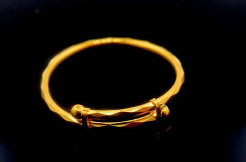 22k 22ct Solid Gold ELEGANT BABY BANGLE Bracelet length CB287 with unique box mf