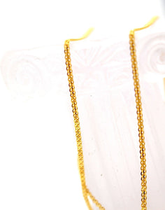 22k 22CT Yellow Solid Gold ELEGANT FLAT BISMARK DESIGN CHAIN C921