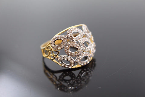 "22k Jewelry Solid Gold ELEGANT STONE Ring Size 9.5 ""RESIZABLE"" R1005"