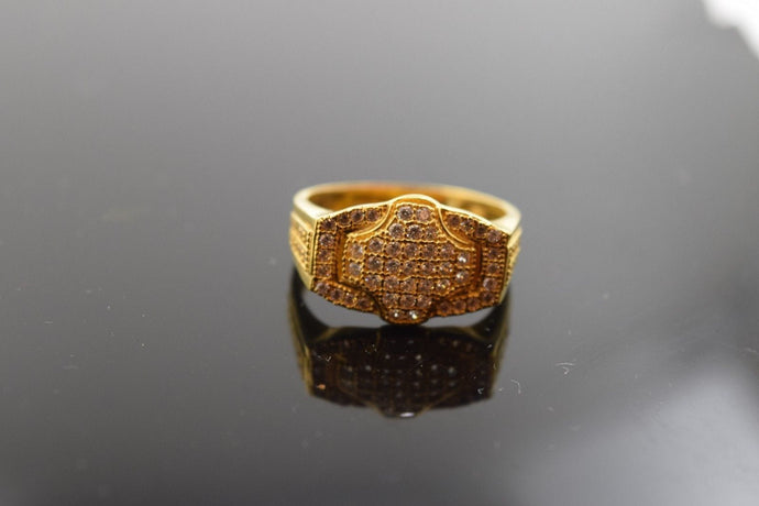 22k 22ct Solid Gold Elegant STONE MENS Ring with FREE BOX