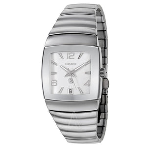 RADO SINTRA MEN'S WATCH AUTOMATIC SAPPHIRE ALL HIGHTEK SILVER CERAMIC R13598102 | Royal Dubai Jewellers