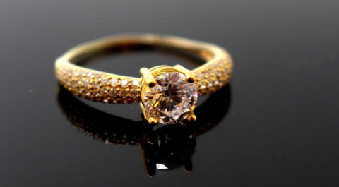 "22k 22ct Solid Gold DIAMOND CUT LADIES RING SIZE 7.5' RESIZABLE"" R1622"