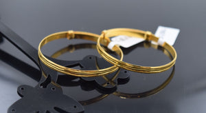 1pc 22k Jewelry Solid Gold ELEGANT PLAIN BABY CHILDREN BANGLE BRACELET cb286