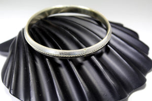 1PC HANDMADE Men b25 Solid Sterling Silver 925 size 2.75 inch kara Bangle Cuff