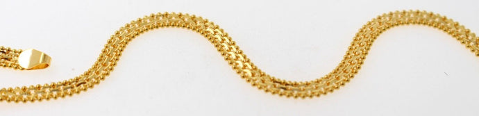 22k Gold ELEGANT MARINER LINK LADIES BRACELET B894
