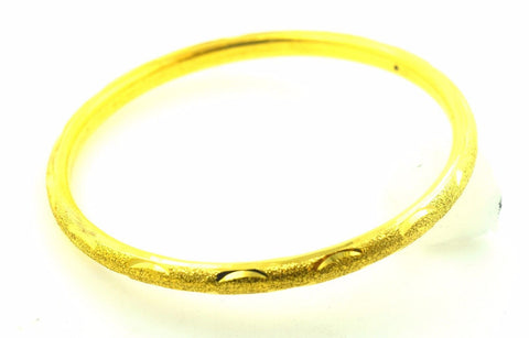 22k Solid Gold ELEGANT WOMEN BANGLE BRACELET Classic Design Size 2.5 inch B334