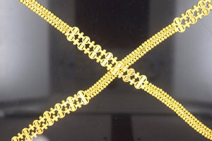 22k 22ct Yellow Solid Gold LONG LADIES TRADITIONAL Chain Necklace LGHT 35 c562