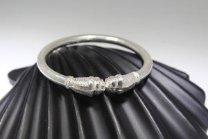 1PC HANDMADE women b58 Solid Sterling Silver 925 size 2.5 inch kara Bangle Cuff | Royal Dubai Jewellers