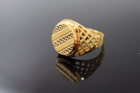 "22k 22ct Solid Gold ELEGANT Charm Mens Ring SIZE 10.0 ""RESIZABLE"" son"