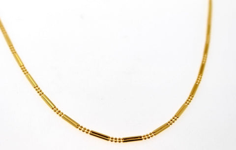 22k 22ct Yellow Solid Gold Elegant Italian Designer Fancy Chain 18in c889