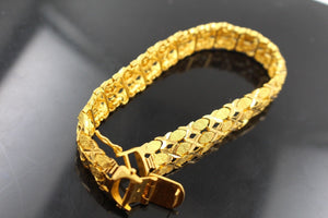 22k 22ct Solid Gold ELEGANT ITALIAN DESIGN MENS BRACELET Size 8.8 inch B715 | Royal Dubai Jewellers