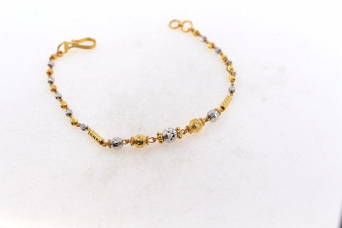 22k 22ct Solid Gold ELEGANT Ladies CHARM Bracelet Two Tone B670