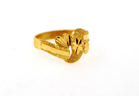 "22k Solid Gold DESIGNER DIAMOND CUT LADIES RING SIZE 6.75 ""RESIZABLE"" R1598"