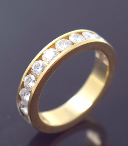 "22k Jewelry Solid Gold ELEGANT Ring Modern Design with Stone ""RESIZABLE"" R716"