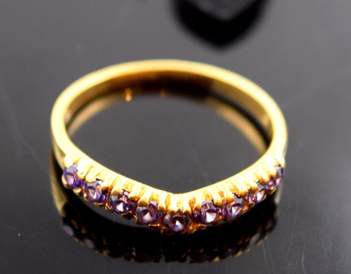 22k Jewelry Solid Gold ELEGANT Charm Tanzanite Ring Design