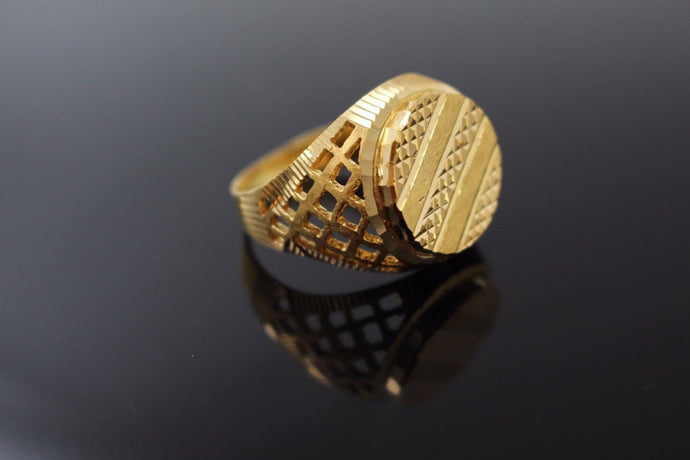 22k 22ct Solid Gold ELEGANT Charm Mens Ring SIZE 10.0
