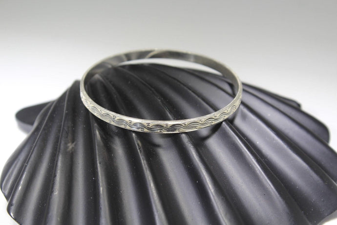 1PC HANDMADE women b83 Solid Sterling Silver 925 size 2.25 inch kara Bangle Cuff