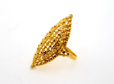 "22k 22ct Solid Gold DIAMOND CUT ANTIQUE LADIES RING SIZE 7 RESIZABLE"" R1641"