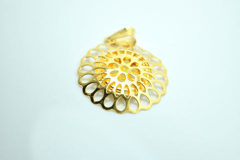 22k 22ct Solid Gold Allah islam muslim QURAN FLOWER pendant locket CHARM P158 | Royal Dubai Jewellers