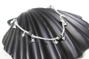 2PC HANDMADE Solid Silver Payal 925 sbb107 Sterling adult ladies Anklets