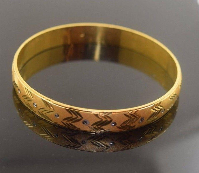 22k Jewelry Solid Gold ELEGANT WOMEN BANGLE BRACELET MODERN DESIGN 6 Pieces b311