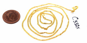 "22k 22ct Yellow Solid Gold Modern Design Chain 20 inch""C332 with box"