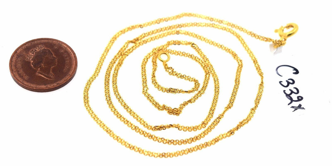 22k 22ct Yellow Solid Gold Modern Design Chain 20 inch