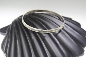 1PC HANDMADE women b85 Solid Sterling Silver 925 size 2.25 inch kara Bangle Cuff