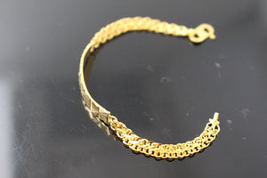 21k 21ct GOLD DESIGNER BABY KIDS CHILDREN BRACELET B841