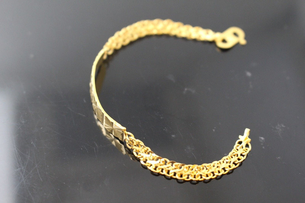 21k 21ct GOLD DESIGNER BABY KIDS CHILDREN BRACELET B841 | Royal Dubai Jewellers