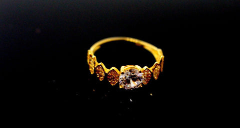 "[22k 22ct Solid Gold DESIGNER GOLD Ring BAND ""RESIZABLE"" R1641"