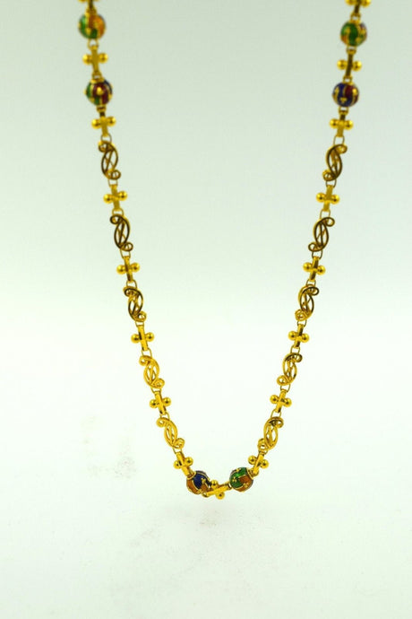 22k Yellow Solid Gold Chain Rope Necklace 3.3mm c113 with white diamond cut box