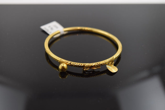 22k 22ct Solid Gold ELEGANT PLAIN BABY CHILDREN BANGLE BRACELET 2095