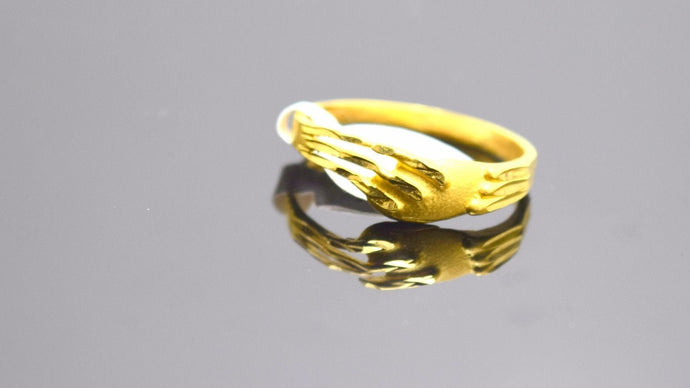 22k Jewelry Solid Gold ELEGANT band Ring Unique Design